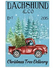 Dachshund Christmas Tree Delivery 2015 1 11x17 Poster front