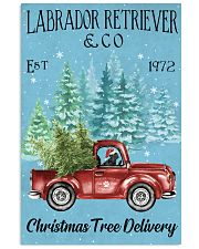 Labrador Christmas Tree Delivery 11x17 Poster front