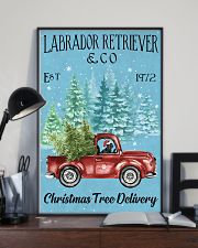 Labrador Christmas Tree Delivery 11x17 Poster lifestyle-poster-2
