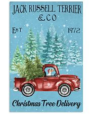 Jack Russell Christmas Tree Delivery 11x17 Poster front