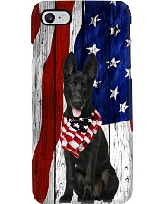 Black German Shepherd Usa Flag Phone Case i-phone-8-case