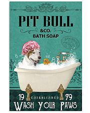 Dog Pit Bull Bath Soap 11x17 Poster front
