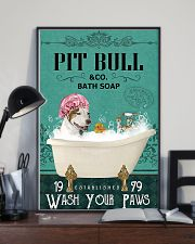 Dog Pit Bull Bath Soap 11x17 Poster lifestyle-poster-2