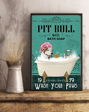 Dog Pit Bull Bath Soap 11x17 Poster lifestyle-poster-3