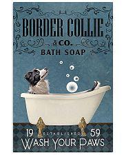 Border Collie bath soapb 11x17 Poster front