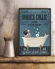 Border Collie bath soapb 11x17 Poster lifestyle-poster-3