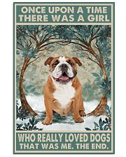 English Bulldog Once Upon A Time 11x17 Poster front