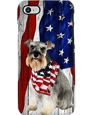 Schnauzer Usa Flag Phone Case i-phone-8-case