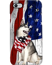 Husky Usa Flag Phone Case i-phone-7-case