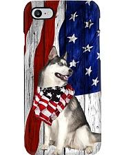 Husky Usa Flag Phone Case i-phone-8-case