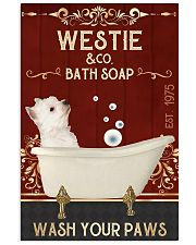 Westie And Bath Soap 11x17 Poster front