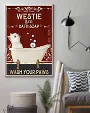 Westie And Bath Soap 11x17 Poster lifestyle-poster-1