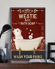 Westie And Bath Soap 11x17 Poster lifestyle-poster-2
