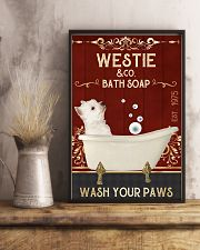 Westie And Bath Soap 11x17 Poster lifestyle-poster-3