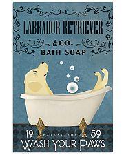 Labrador Retriever bath soapb 11x17 Poster front