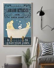 Labrador Retriever bath soapb 11x17 Poster lifestyle-poster-1