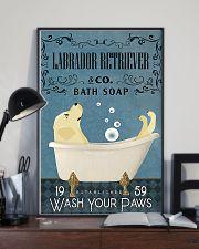 Labrador Retriever bath soapb 11x17 Poster lifestyle-poster-2