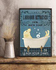 Labrador Retriever bath soapb 11x17 Poster lifestyle-poster-3
