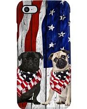 black and fawn pugs Usa Flag  Phone Case i-phone-8-case