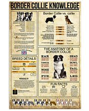 Border Collie Knowledge 11x17 Poster front
