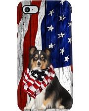 Shetland Sheepdog Usa Flag Phone Case i-phone-8-case