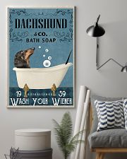 dachshund and bath soap poster 11x17 Poster lifestyle-poster-1