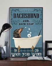 dachshund and bath soap poster 11x17 Poster lifestyle-poster-2