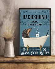 dachshund and bath soap poster 11x17 Poster lifestyle-poster-3