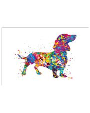 dachshund water corlor 24x16 Poster front