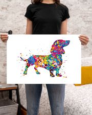 dachshund water corlor 24x16 Poster poster-landscape-24x16-lifestyle-20