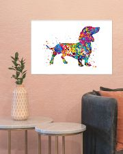 dachshund water corlor 24x16 Poster poster-landscape-24x16-lifestyle-22