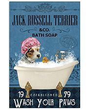 Jack Russell Terrier bath soapb 11x17 Poster front
