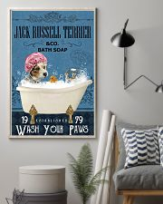 Jack Russell Terrier bath soapb 11x17 Poster lifestyle-poster-1