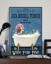 Jack Russell Terrier bath soapb 11x17 Poster lifestyle-poster-2