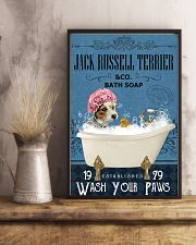 Jack Russell Terrier bath soapb 11x17 Poster lifestyle-poster-3