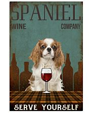 Spaniel serve yourself 11x17 Poster front