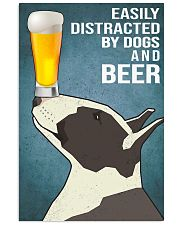 Dog Bull Terrier And beer 11x17 Poster front