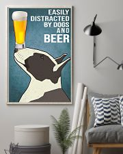 Dog Bull Terrier And beer 11x17 Poster lifestyle-poster-1