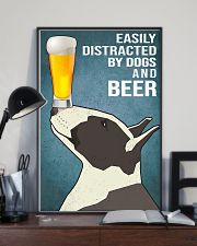 Dog Bull Terrier And beer 11x17 Poster lifestyle-poster-2