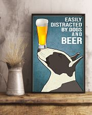 Dog Bull Terrier And beer 11x17 Poster lifestyle-poster-3