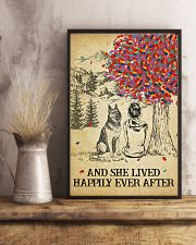 German Shepherd She Lived Happily 11x17 Poster lifestyle-poster-3
