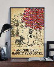 Schnauzer She Lived Happily 11x17 Poster lifestyle-poster-2