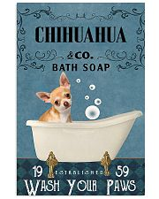 chihuahua bath soap blue 11x17 Poster front