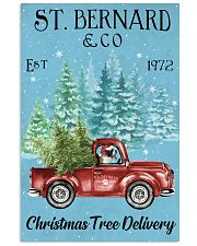 St Bernard Christmas Tree Delivery 11x17 Poster front