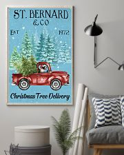 St Bernard Christmas Tree Delivery 11x17 Poster lifestyle-poster-1