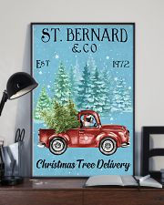 St Bernard Christmas Tree Delivery 11x17 Poster lifestyle-poster-2