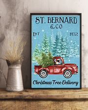 St Bernard Christmas Tree Delivery 11x17 Poster lifestyle-poster-3