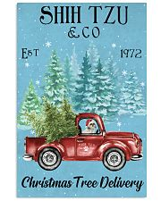 Shih Tzu Christmas Tree Delivery 11x17 Poster front