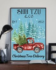 Shih Tzu Christmas Tree Delivery 11x17 Poster lifestyle-poster-2