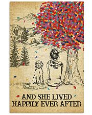 Labradoodle She Lived Happily 11x17 Poster front